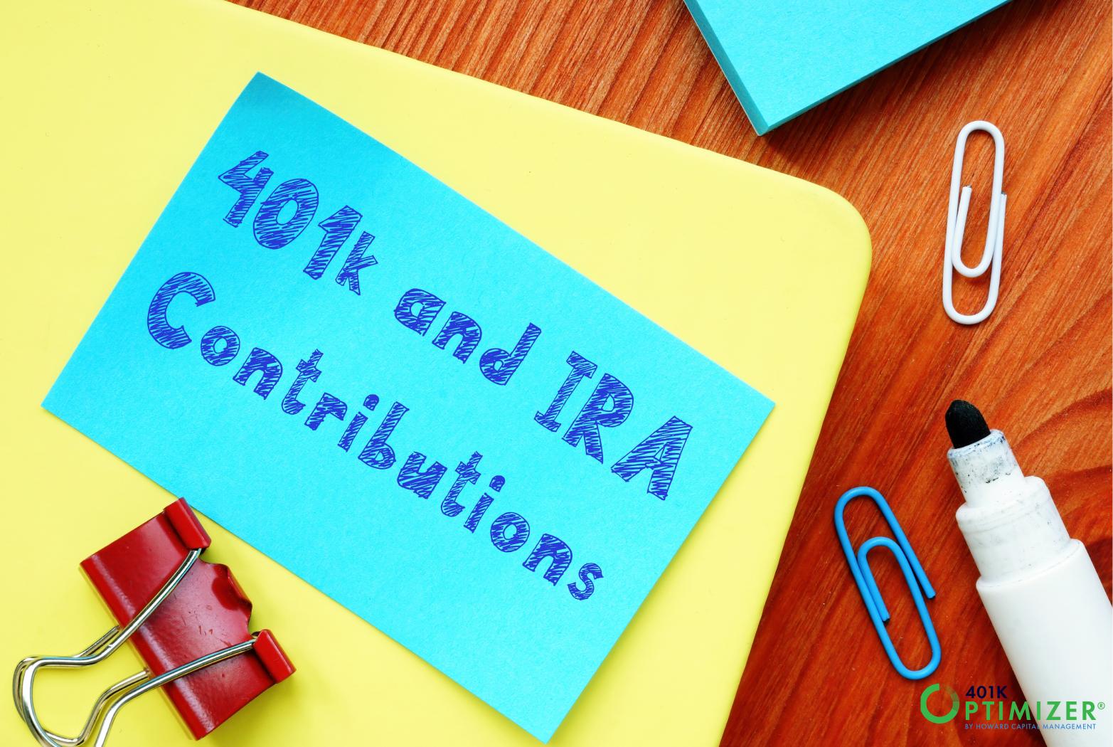 401(k) Contributions over Savings